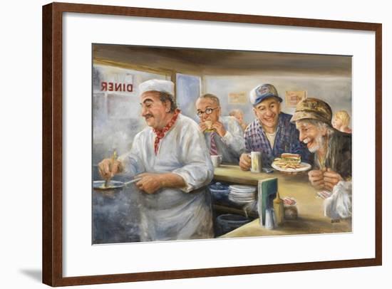 Feeding the Hungry-Dianne Dengel-Framed Giclee Print