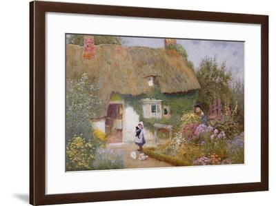 Feeding the Pigeons-Arthur Claude Strachan-Framed Giclee Print
