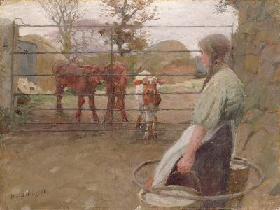 Feeding Time, 1908-Harold Harvey-Giclee Print