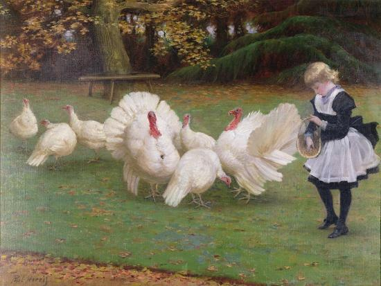 Feeding Time-Philip Richard Morris-Giclee Print