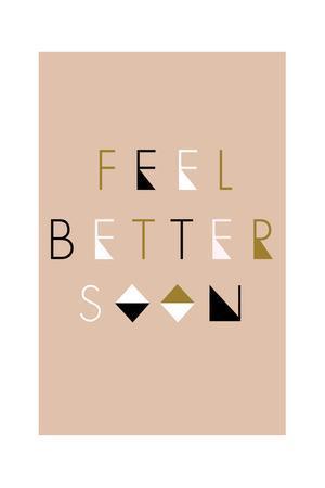 Feel Better Soon - Geometric-Lantern Press-Framed Art Print