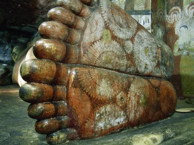 Feet of a 1st Century Reclining Stone Buddha in a Cave Temple-Jason Edwards-Photographic Print