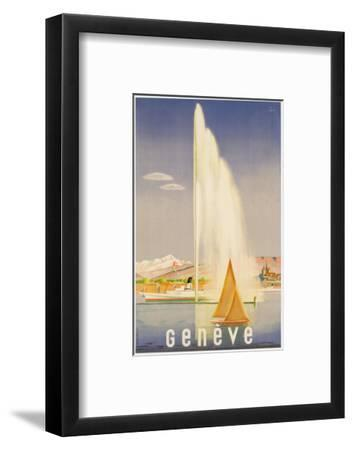 Advertisement for Travel to Geneva, C.1937 (Colour Litho)