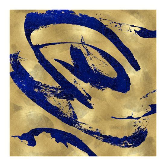 Feisty Blue on Gold-Jordan Davila-Giclee Print