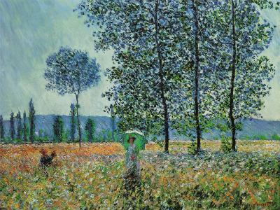 Felder im Frühling-Claude Monet-Art Print