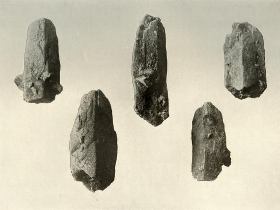 'Feldspar Crystals from Summit of Mount Erebus (Natural Size)', 1909-Unknown-Photographic Print