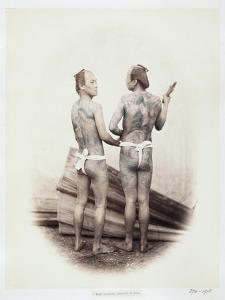 Betto or Groom, Tattooed a La Mode, 19th Century by Felice Beato