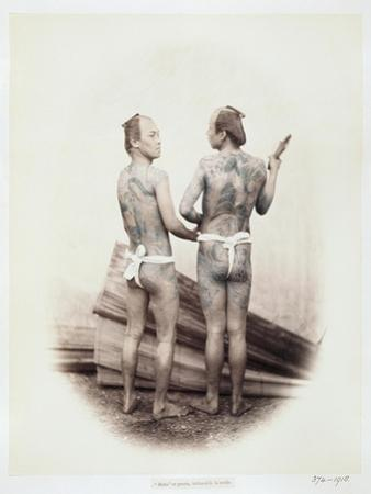 Betto or Groom, Tattooed a La Mode, 19th Century