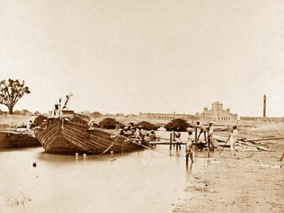 Bridge of Boats over the Gomptee, Lucknow