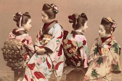 Felice Beato, Japanese Girls in Traditional Dresses, 1863-1877. Brera Gallery, Milan, Italy