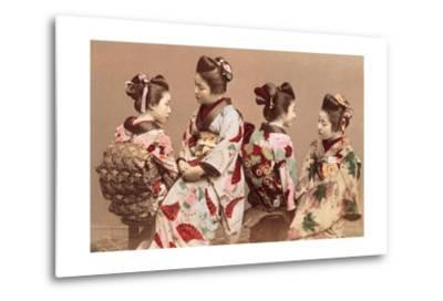 Felice Beato, Japanese Girls in Traditional Dresses, 1863-1877. Brera Gallery, Milan, Italy