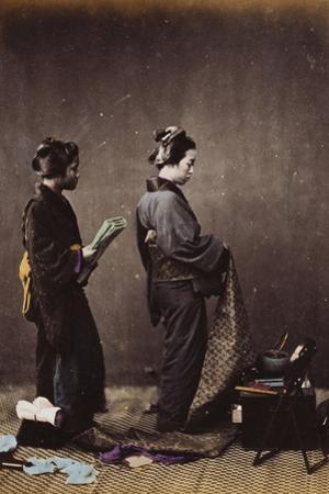 Japanese Women Dressing, C.1870-1880