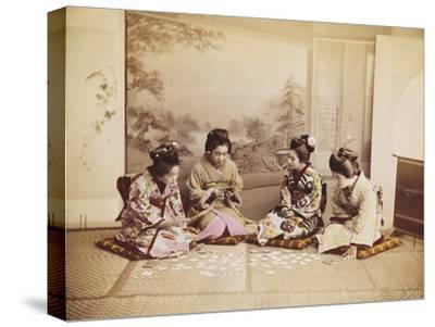 Japanese Women Playing Cards, C.1867-90