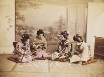 Samurai with Raised Sword, circa 1860-Felice Beato-Giclee Print