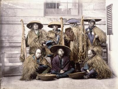 Japanese Yakonin in Dress of Ceremony, C.1868