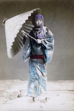 Museme, Woman in Winter Costume, Japan, 1882