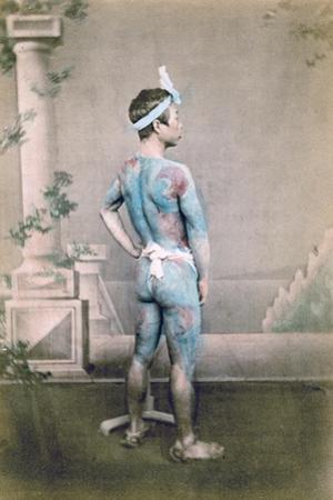 Tattooed Japanese Groom (Bett), Japan, 1882