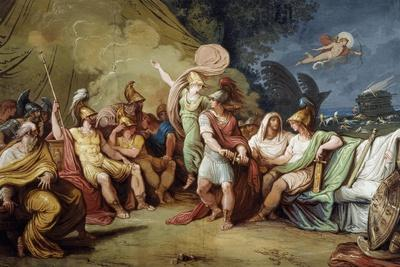 Dispute Between Achilles and Agamemnon, Fulcrum of Cycle with Stories of Iliad