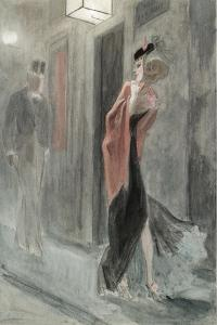 Street Corner, Four in the Morning (Parodie Humain) by Félicien Rops
