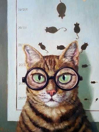 Feline Eye Exam-Lucia Heffernan-Art Print