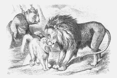 Feline Friends; Or, the British Lion and the Persian Chat!, 1873-Joseph Swain-Giclee Print
