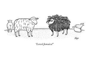 """Loved Jamaica!"" - New Yorker Cartoon by Felipe Galindo"