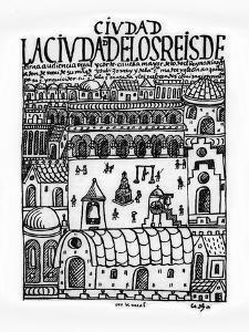 City of Kings, Now Lima, First New Chronicle and Good Government,16th, Biblioteca Nacional, Madrid by Felipe Huaman Poma De Ayala