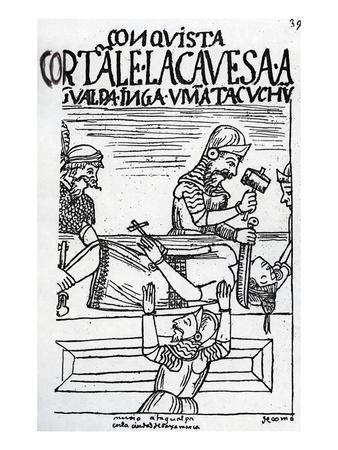 The Execution of the Inca King Atahualpa (Woodcut)