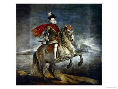 Felipe III, King of Spain (1578-1621) on Horseback-Diego Velazquez-Giclee Print