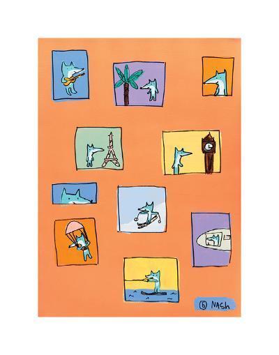 Felipe - Orange-Brian Nash-Art Print