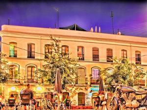 Alaneda De Hercules Square by Night, Seville, Spain. Digital Illustration. by Felipe Rodriguez