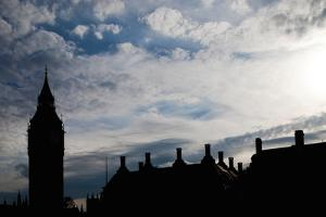 Big Ben Silhouette, London by Felipe Rodriguez
