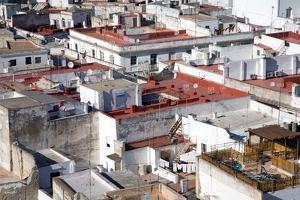 Building Roof Tops in Cadiz in Spain by Felipe Rodriguez
