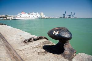 Ferry in Port in Cadiz Spain by Felipe Rodriguez