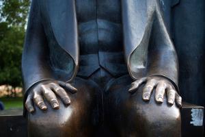 Karl Marx Statue's Hands, Berlin, Germany by Felipe Rodriguez