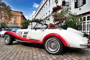 London Street with Sports Car by Felipe Rodriguez