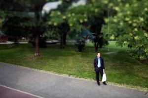 Man Alone on Street by Felipe Rodriguez