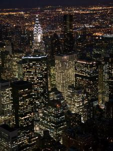 New York City at Night by Felipe Rodriguez