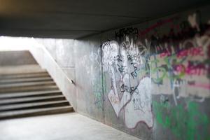 Pedestrian Road Underpass Berlin by Felipe Rodriguez
