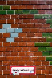 Red Brick Wall Berlin by Felipe Rodriguez