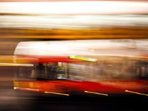 Red Bus by Felipe Rodriguez