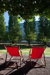 Red Deck Chairs by Felipe Rodriguez