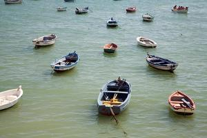 Small Boats in the Sea in Spain by Felipe Rodriguez