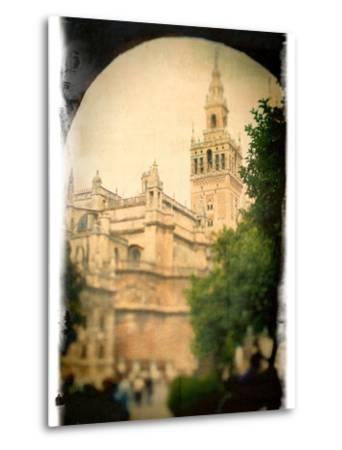 The Giralda Tower as Seen from Patio De Banderas Square, Seville, Spain