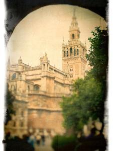 The Giralda Tower as Seen from Patio De Banderas Square, Seville, Spain by Felipe Rodriguez