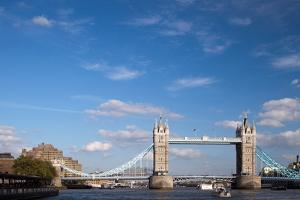Tower Bridge from the Thames River North Bank, London by Felipe Rodriguez