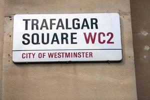 Trafalgar Square Sign, London by Felipe Rodriguez