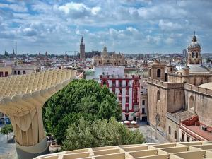 View from the Top of Metropol Parasol Structure, Seville, Spain by Felipe Rodriguez