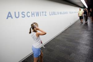 Visitors in Holocaust Museum by Felipe Rodriguez