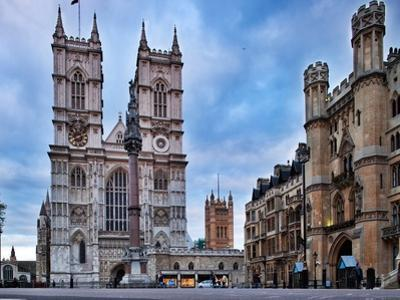 Westminster Abbey (Left) and Broad Sanctuary Building (Right), Westminster, London by Felipe Rodriguez